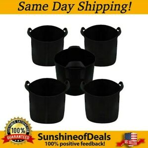 Ming Wei Grow Bags… (25 Gallon, Black) 5-Pack Brand New. SAME-DAY SHIPPING!!