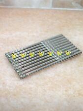 """10 x 3MM THK Premium GRIT 50 Diamond coated hole saw drill bit drills 1/8"""" shank"""