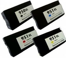 4 Ink Cartridges Chipped for 950XL 951XL HP  Officejet Pro 8600 8600 Plus 8100e
