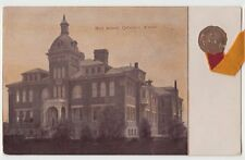 c1910 COLUMBUS Kansas Kans Ks Postcard HIGH SCHOOL K14