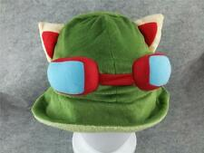 Anime Hat Rave Beanie Cap Furry Plush Cosplay League of legends Teemo Green