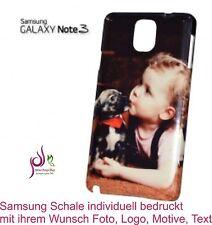 3D Samsung Galaxy Note 3 Schale Hülle Cover individuell bedruckt Wunsch Foto Neu