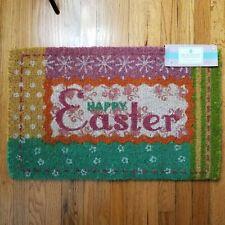 Holiday Inspirations Happy Easter Coir Fiber Straw Doormat Floor Mat