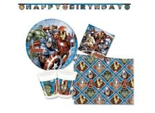 SET 90 PZ  COORDINATO COMPLEANNO BAMBINO AVENGERS MARVEL CON GHIRLANDA PARTY