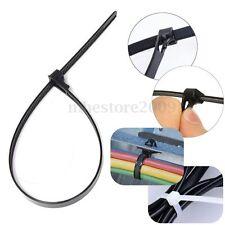 8mmx450mm Nylon Plastic Reusable Cable Tie Zip Wrap Ratchet Loop Ties Self-Lock