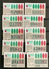 New York Football Weekly Lottery Tickets issued 1978
