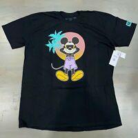 Neff x Disney Men's Cool Mickey Mouse Short Sleeve T Shirt Black Size 2XL New