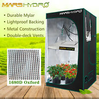 "Mars Hydro 48""x48""x78"" Grow Tent 100% Reflective Mylar Indoor Growbox Cabinet"