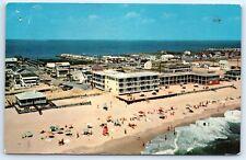 Postcard MD 1966 North Ocean City Aerial Photo View Beach Bathers B6