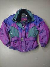 Sunice Jacket Iridescent Fire Ice Size 8 Medium Women's Snow Ski Vintage