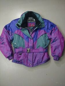 Sunice Jacket Iridescent Fire Ice Size 8 Medium Women's Snow Ski Vintage