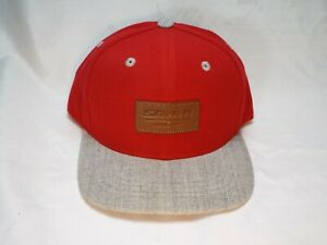 SRAM LEATHER PATCH RED FLAT CAP CYCLING DH MTB BASEBALL CAP/HAT