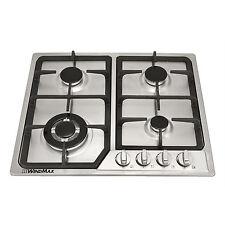 Stainless Steel Powerful 4 Burner S/S Gas Cooktop NG / LPG Cooker @WINDMAX
