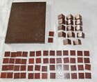 BAYKO EARLY PARTS DARK BROWN BASE & OTHER PARTS AS SHOWN x 69pcs