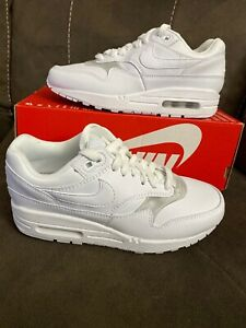 New Women's Nike Air Max 1 Size 5 Casual Shoes White/White/White 319986 119