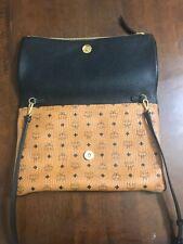 Authentic MCM  Leather Pouch Clutch Bag Original