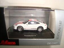Porsche 911 R blanche À Bandes rouges - Sch26299