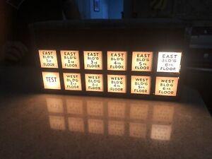 Lighted Antique Elevator Floor Indicator Box 1930s New York City VTG Industrial
