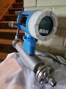 83F08-AAASAAAALAA1 Endress+Hauser Promass 83 Flow Meter: Clean & Tested!
