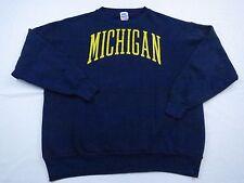 Vtg 50/50 USA Mens Michigan Wolverines NCAA Football Basketball Sweatshirt Sz L