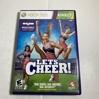 KINECT Let's Cheer (Microsoft Xbox 360, 2011) Complete With Manual