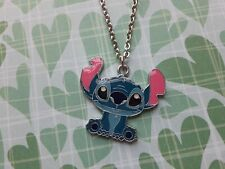 Cute Lilo and Stitch charm chain Disney cartoon stainless steel necklace jewelry