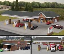 Walthers Cornerstone HO Scale Building Kit Modern Travel Center/Gas Station