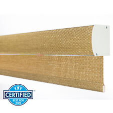 Cordless Bamboo Color Natural Woven Free Stop Window Blind Roller Natural Shade