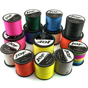 300/500M Super Power 8 Strands Braided Fishing Line JOF Fishing Wire Multicolor.