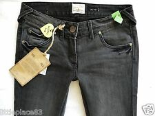 River Island Ladies Jeans Size 10 R Super SKINNY Black Grey Side Studs 30/30