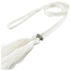 Vintage Braided Tassels Waist Chain Belt Rope Womens Girdle Waistband 160*0.7CM