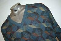 14210-a Mens Vintage Megalos Sweater Cosby Style Size 4XL BIG & TALL