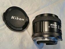 Nikon AF NIKKOR 35mm 1:2 Manual Focus  Lens Excellent!  See 12 pics.  1 Cap too.