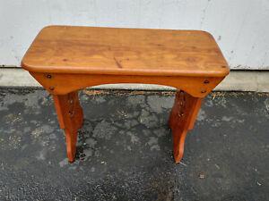 Antique Slant Top Craftsman, Mission, Arts & Crafts Piano Organ Stool Seat