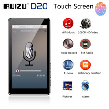 RUIZU D20 8GB-128GB HiFi Lossless MP3 4 Player Music Video FM Radio TF Recording