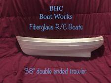 "rc model boat fiberglass hull 38"""
