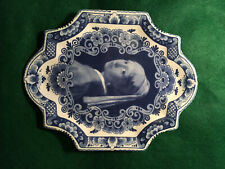 """Vintage Delft Blue/White Platter/Tray, """"Girl with a Pearl Earring"""" Vermeer"""