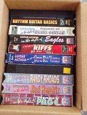 MVP Guitar Instruction VHS lot of 10 Hendrix, Clapton, Van Halen, SRV, Rhodes