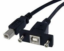 Startech.com 1 Ft Panel Mount Usb Cable B To B - F/m - 1 X Type B Male Usb - 1 X