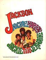 JACKSON 5 1970 1st U.S. TOUR CONCERT PROGRAM BOOK BOOKLET / MICHAEL / EX 2 NM