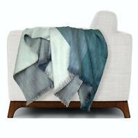 Soft & Warm Reversible Alpaca wool Throw Fringed Blanket 69 x 55 in