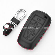 For Ford 5 Button Keyless CAR Remote Fob Bag PU Leather Car Key Cover Case Black