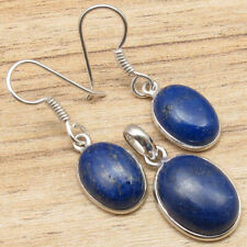 Matching Earrings Pendant Set, LAPIS LAZULI Silver Plated New Style Jewelry