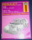 Haynes Manual #1646 Renault 19 inc. Chamade 1989 - 1991 1390cc 1397cc 1721cc