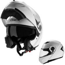 CRUIZER Casco Modulare Moto Uomo / Donna Omologato Integrale Bianco Lucido