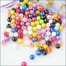 200Pcs Mixed Plastic Acrylic AB Round Ball Charms Spacer Beads 6mm