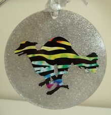Silken Windhound Racing Christmas Ornament Window Wall Decoration Wall Art