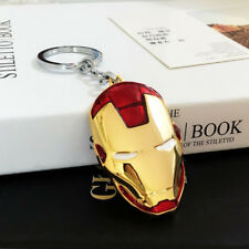 Metal Made Marvel Avengers Iron Man Mask Schoolbag Car Keychain Keyring Gifts
