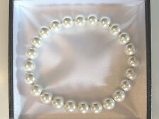 "LOVELY LADIES MAGNETIC ""IVORY PEARL"" BANGLE/BRACELET ARTHRITIS/PAIN RELIEF AJMB"