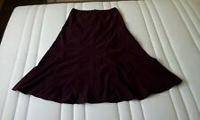 NEW LOOK Long Flared Skirt . Plum . Size 16 .
